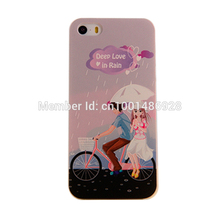 Phone Cases MOBILE CASES 3D relief process For iPhone 5 5S Cartoon Cycling