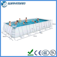 2015 hot sale Large size for family party rectangle swimming pool to play game
