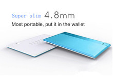 2015 New product Ultra-thin 4.8mm credit card power bank, micro usb battery charger, slim power banks made in china