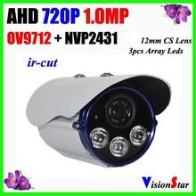 OSD Menu 720P 1.0 Megapixel Analog AHD Camera 3 Array Leds 12mm CS Lens Day/Night switch CCTV Camera Vision Star