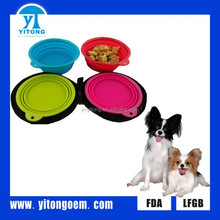 Silicone Dog Water Bowl Collapsible Hot Sale High Quality Travel Pet Bowl