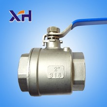2pc type stianless steel ball valves with internal thread of 201 stainless steel water oil and Steam