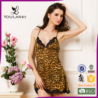 Very sexy Leopard lace nude sexy lingerie for women