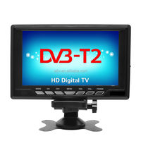 4K/8K/H.265 portable mini lcd with built-in digital tv tunner DVB-T2,DVB-T, ISDB-T TV