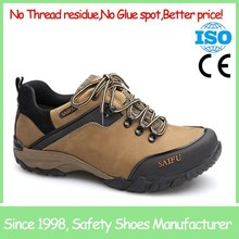 SF1317 Light brown metal free lightweight anti static china safety shoe