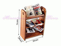 Small book shelf with Magazines - M46Magazines miniature