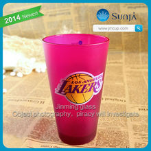NBA Los Angeles LAKERS multi choice glass frosted light purple colored wholesale glass cups