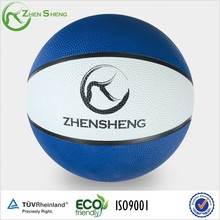Zhensheng Promotional Rubber Basketballs with Custom Logo Printed