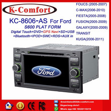 K-comfort touch screen for ford transit radio player gps navigation with SWC GPS + Radio + RDS BT+ SD + USB CD/DVD IPOD Aux-in