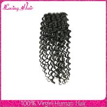 High 7A grade hair product human hair deep wave peruvian lace closure wholesale top selling hair closure piece