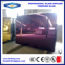 China manufacturer colored mirror glass, colored glass mirror