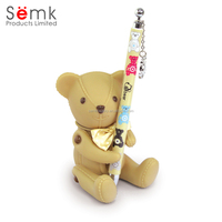 Wholesaler officer and school student use promotional gift pen bear pencil stander pencil cup gift pen holder