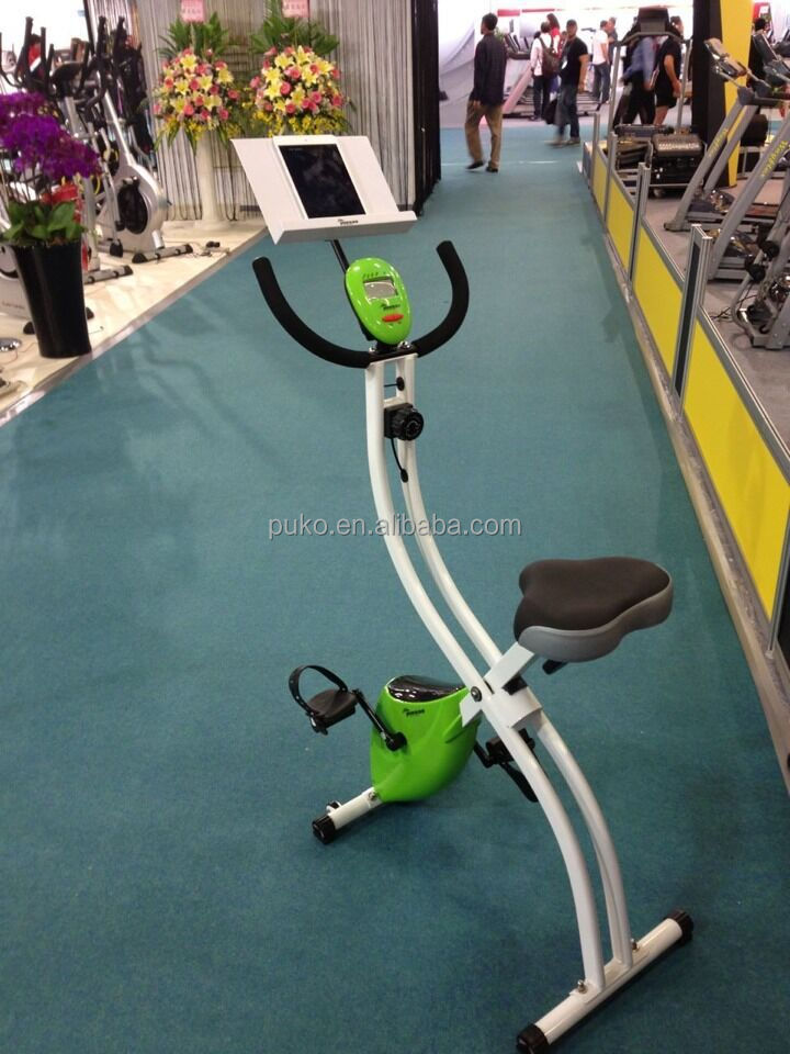 Маховик велотренажер Магнитный велосипед 2.5kgs S форма велосипед с ipad рабочий стол
