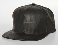 Six panels leather flat brim baseball hats and caps for men