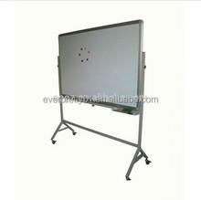 Classroom Furniture Fancy White Frame Aluminum Movable Bulletin Board