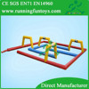 Outdoor game inflatable race track, inflatable zorb ball track, inflatable race car track
