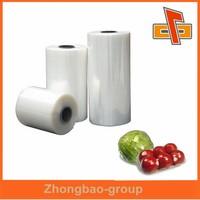 Transparent environmental friendly plastic polyolefin shrink film producer for vegetable packing