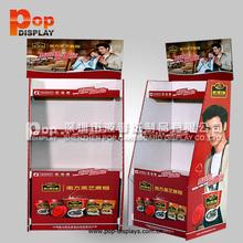 customized floor retail cardboard display stand chocolate