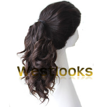 Stock 100% Virgin Mongolian Hair Jewish Ponytail Wig Wholesale