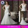 CE129 Elegant Fashion Boat Neck Sexy Low Back Mermaid Lace Alibaba Wedding Dresses