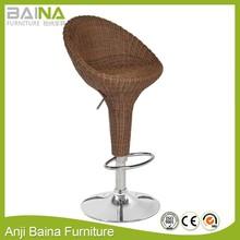 Rattan swivel bar stool bombo high back