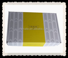 CMYK + PMS litho color printed shirt mailing box from E flute corrugated board
