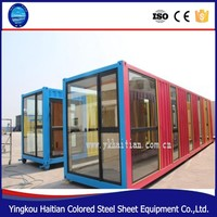 Two bedroom family luxury folding 20ft or 40ft prefabricated shipping container house with bathroom price from China