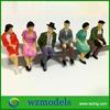1;25 sitting painted mini plastic human figure /decorative toy human figure