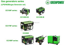 5KW portable biogas generator price for sale to biogas plant