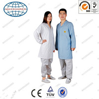 standard 3/4 esd smock for cleanroom