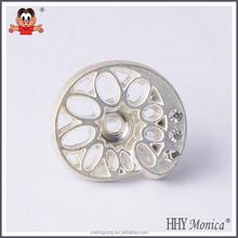 hole button rhinestones decoration