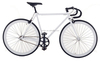 white color 4130 grade Chromoly steel 700C road bicycle