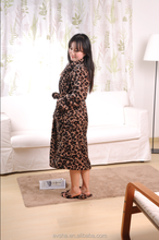 2015 new design leo bathrobe/Flannel fleece bathrobe/100% microfiber bathrobe