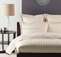 """260Thread count 120""""width 50% cotton 50%polyester dobby stripe 2cm plain dyed sheet set and fabric for hotel bedding linen"""