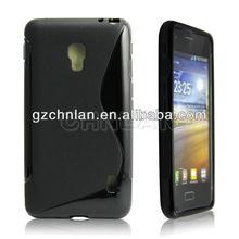 Thin Slim Gel X line Cross tpu case for LG optimus D500