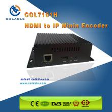 Small size hd mi encoder to h.264 ip stream and iptv mini encoder decoder COL7101H