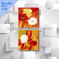 group canvas painting flower oil painting polyester canvas printing wall art painting