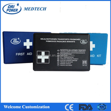OP manufacture FDA ISO CE approved Germany waterproof compact auto car plastic first aid bag
