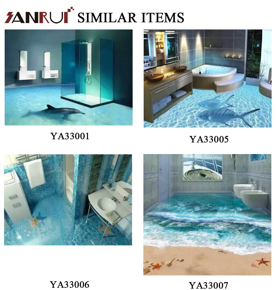 3d Effect Printing Ceramic Floor Tiles,3d Bathroom Tile For House ...
