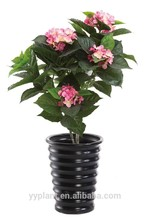 Ft wholesale2.7 108 follajes 7 cabezas de color rosa artificial hortensia flores para la decoración deinteriores