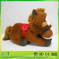 2015 felpa rellena sentado y de pie caballo de juguete con grandes ojos