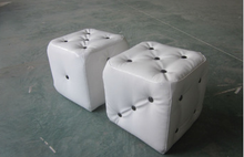 Ottoman with diamond buttons living furniture sofa pu leather outside and MDF inside