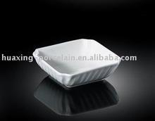 H3409 restaurante 5 '' cor branca quadrado tigela de porcelana