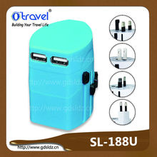 Rubber coated Universal Travel Adapter