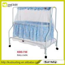 Manufacturer NEW Baby Swing Bed with Mosquito Net Lightweight Baby Rocking Cradle