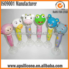 silicone swing pen rubber Ballpoint Pen promotional rubber pen for promotion