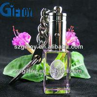 custom keychain maker crystal led key chain for promotional