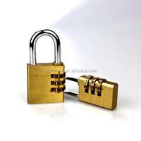 3 digital brass combination lock 30mm