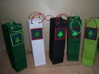 China manufacture wholesale holiday wine bottle gift bags