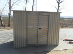 Withstand Wind prefabricated steel metal shed house